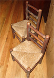 How about these adorable rush seat small childrens' chairs!
