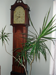 R. Whiting Winchester Grandfather Clock signed/waranteed to July 10, 1828