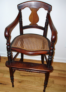 Antique High Chair dates from late 1700's or early 1800's