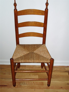 Bon A Beautifully Preserved Rush Seat Ladderback Chair Circe 1840.