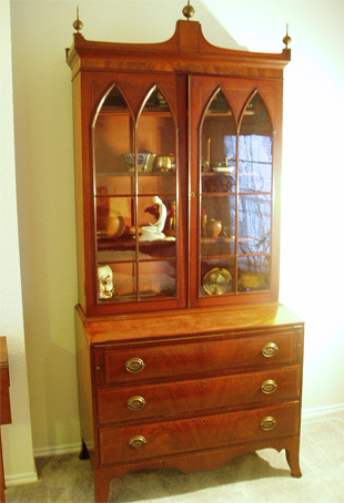 This Hepplewhite Antique Secretary is one of our most favorite items for display.