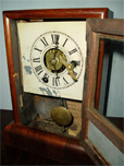 "Seth Thomas miniature mantle clock was ""Waranteed Good"" by the manufacturer."